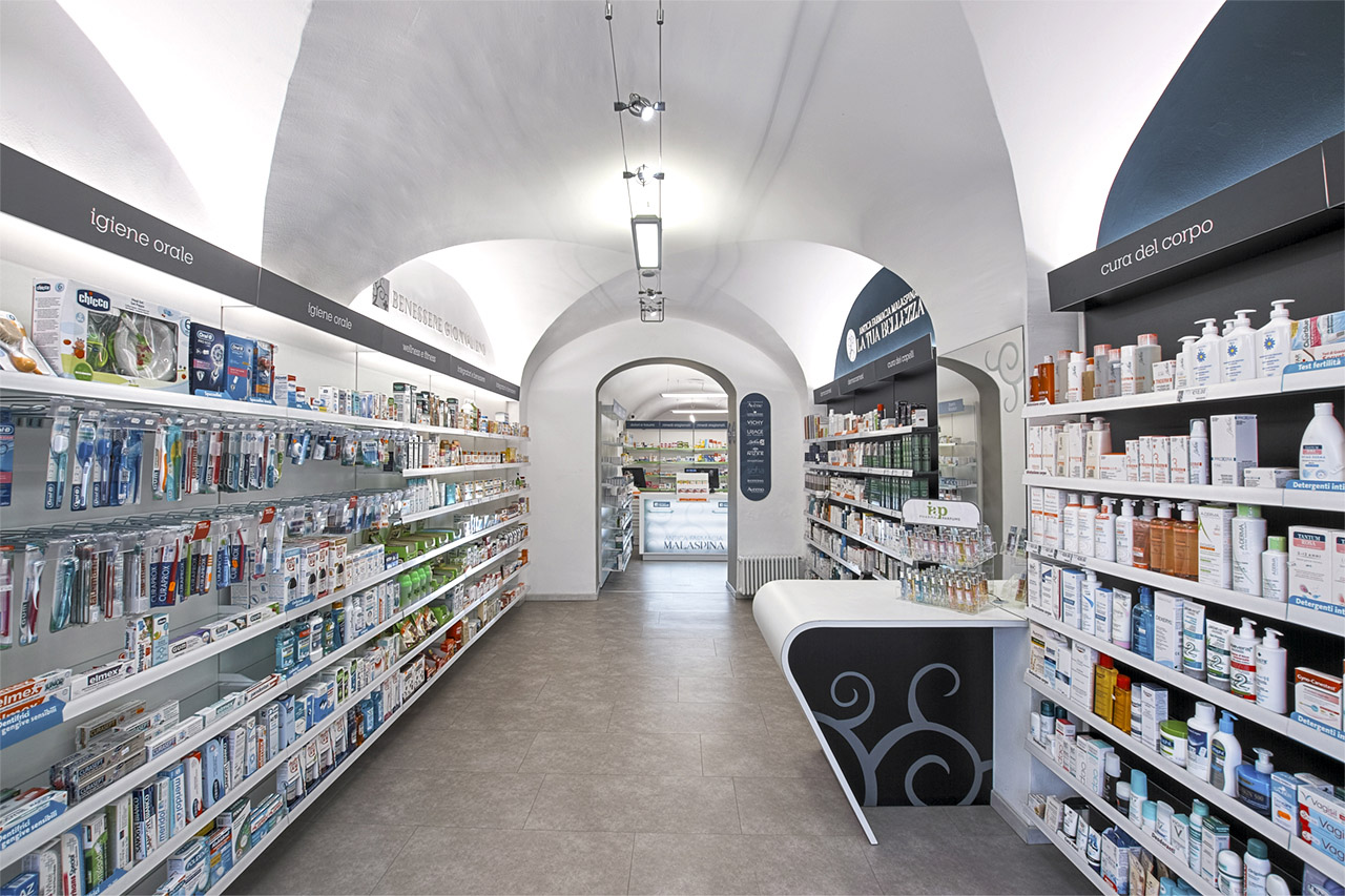 soffitto in farmacia